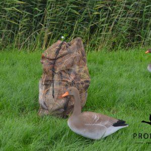 Grauwe gans foamies ganzenlokkers camouflage lokkertas camouflage